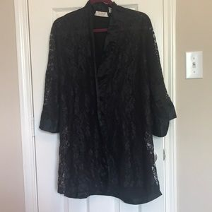 Victoria's Secret Vintage Black Lace Robe